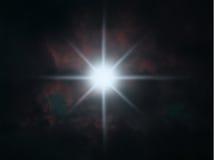 Stern, der im nächtlichen Himmel glänzt Lizenzfreies Stockbild