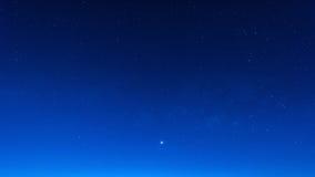 Stern in der Nachtzeitszene des blauen Himmels Lizenzfreie Stockbilder