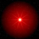 Stern in der roten Wolke - Sternhintergrund Lizenzfreie Stockfotos