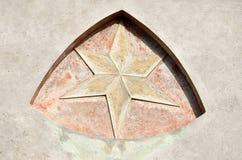 Stern in der Wand Lizenzfreies Stockbild