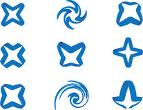 Stern des blauen Farbbands Lizenzfreie Stockfotos
