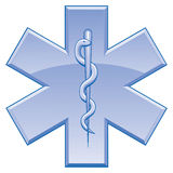Stern des Leben-Rettungs-Symbols Lizenzfreie Stockfotos