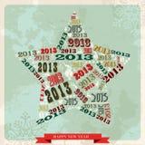 Stern des Weinlese-guten Rutsch ins Neue Jahr 2013 Stockfotos