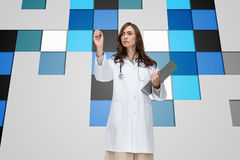 Stern doctor pointing Royalty Free Stock Photos