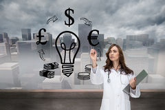 Stern doctor pointing Stock Photos