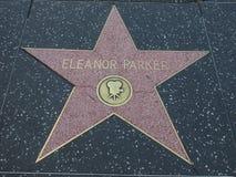 Stern Eleonors Parker auf Hollywood-Weg des Ruhmes lizenzfreie stockfotografie