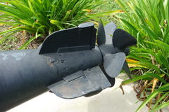 The stern end of a military weapon Stock Photo