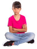 Stern Face Young Girl Royalty Free Stock Images