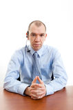 Stern faced Office Worker Stock Images