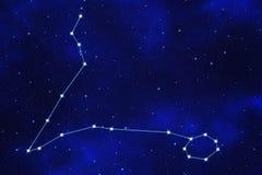 Stern-Feldhintergrund des zodiacal Symbols Stockbild