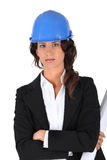 Stern female architect Royalty Free Stock Images