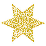 Stern gebildet von den verschiedenen Weihnachtssymbolen Lizenzfreies Stockbild