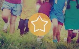 Stern-guter großer Erfolgs-ausgezeichnetes Belohnungs-Konzept lizenzfreies stockfoto