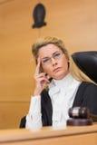 Stern judge looking at camera Stock Photos