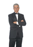 Stern Middle aged Man in Tuxedo Royalty Free Stock Images