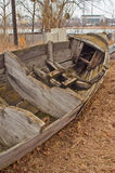 Stern of old wooden boat Royalty Free Stock Photos