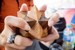 Stern-Puzzlespiel Stockfoto