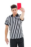Stern referee showing red card Stock Images