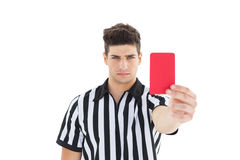 Stern referee showing red card Stock Photography