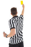 Stern referee showing yellow card Royalty Free Stock Photo