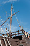 Stern of the replica of a Columbus's ship Stock Photo
