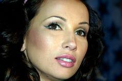 Stern russischen Musikfernsehens, führender erotischer g Stockfotografie