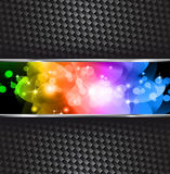 Stern-Schein-Hintergrund mit Regenbogen-Steigung Stockfotografie