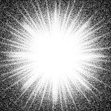 Stern sprengte Schwarzweiss-Halbtonhintergrund des abstrakten Vektors Stockbild