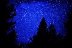 Stern-Spuren im nächtlichen Himmel Stockfotos