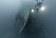 Stern of the SS Thistlegorm Royalty Free Stock Image