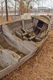 Stern stara drewniana łódź Zdjęcia Royalty Free