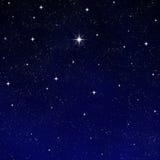 Stern sternenklaren nächtlichen Himmel wünschen   Lizenzfreies Stockfoto