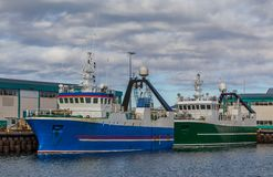 Stern Trawlers Royalty Free Stock Photography