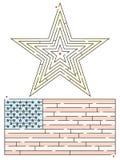 Stern und Flaggen-Labyrinth Stockbilder