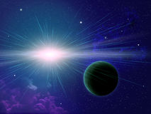 Stern und Planet Stockbilder