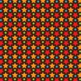 Stern-Vektor-Muster mit dunklem Hintergrund Lizenzfreies Stockfoto