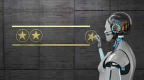 Stern-Veranschlagen des Roboter-4 vektor abbildung