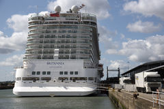 Stern view of cabins on a cruise ship Stock Photography