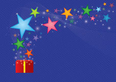 Stern vom Geschenkkasten Stockfotografie