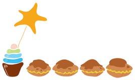 Stern von kleinen Kuchen Stockfotos