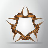 Stern von St- Georgebändern Symbol des russischen Sieges Victory Day Auch im corel abgehobenen Betrag lizenzfreie abbildung
