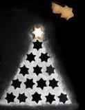 Stern-Weihnachtsbaum Stockbild