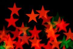 Stern-Weihnachtslichter lizenzfreie stockbilder
