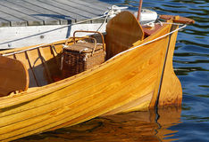 Stern of a wooden antique boat Royalty Free Stock Images