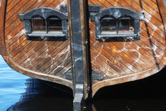 Stern of wooden ship Stock Photos