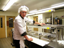 stern wygląda szefa kuchni Obrazy Stock