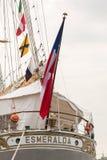 Stern wysoki statek Esmeralda Zdjęcie Stock