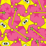 Stern-Zeichen-Rosa nahtloses Pattern_eps Lizenzfreie Stockfotografie