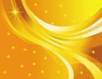 Sternabstraktion auf einem gelben Hintergrund Stockbilder
