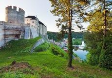 sternberk республики вечера замока чехословакское стоковые фото